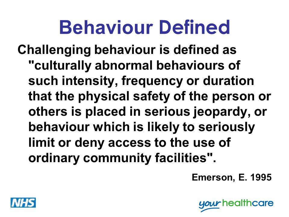 Behaviour Defined
