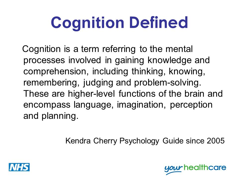 Cognition Defined