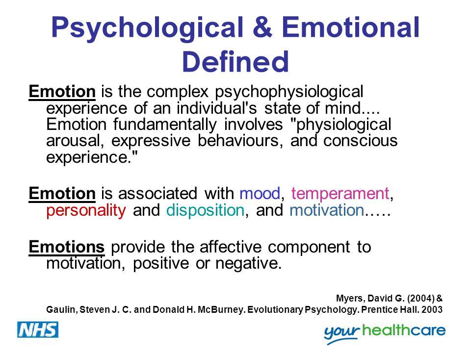 Psychological & Emotional Defined