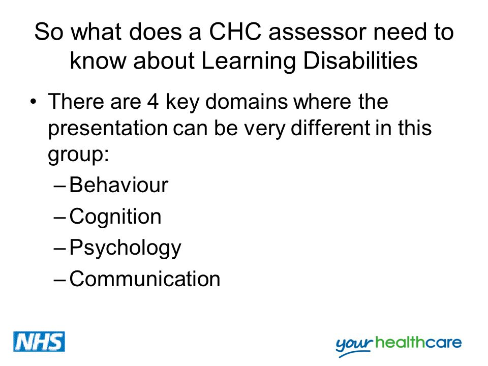 So what does a CHC assessor need to know about Learning Disabilities