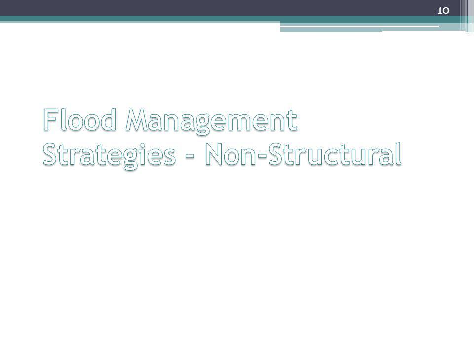 Flood Management Strategies - Non-Structural