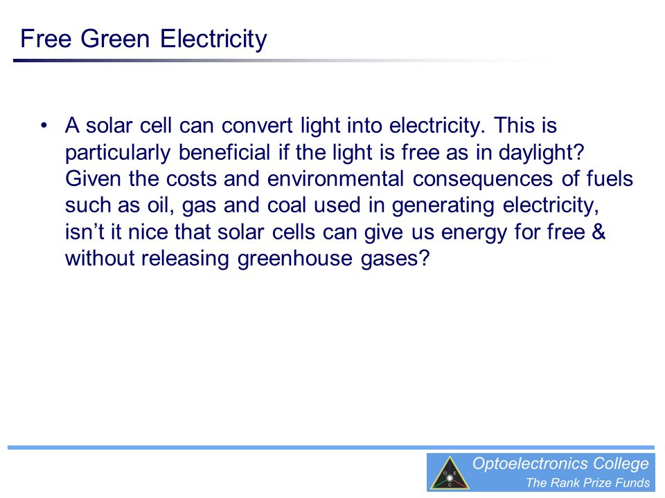 Free Green Electricity