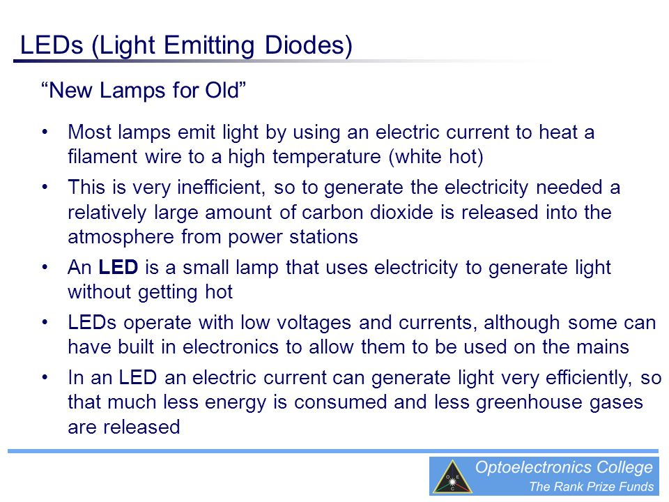 LEDs (Light Emitting Diodes)