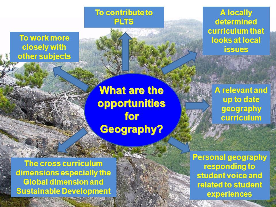 What are the opportunities for Geography