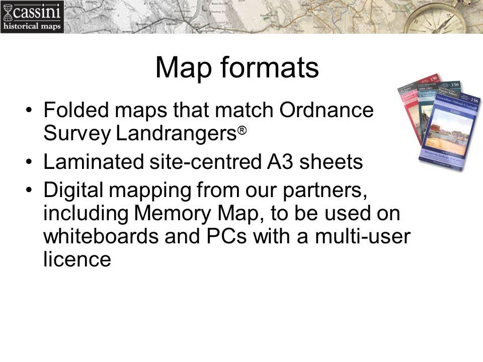 Map formats Folded maps that match Ordnance Survey Landrangers®