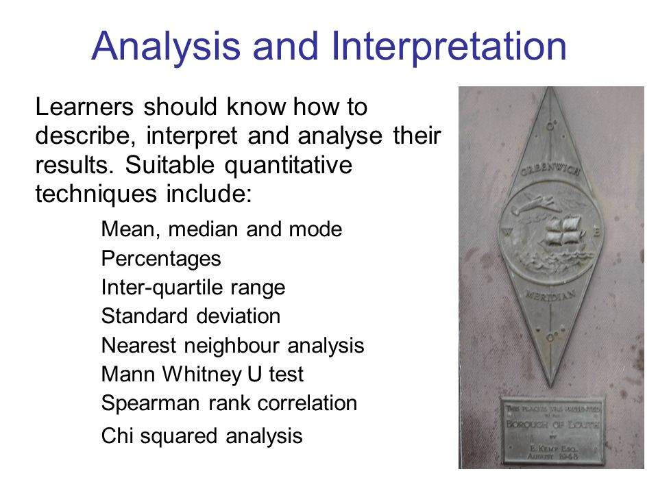 Analysis and Interpretation