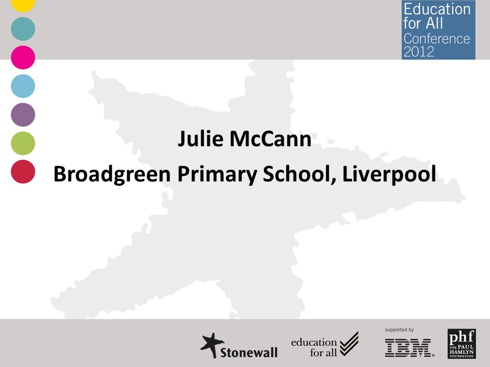 Julie McCann Broadgreen Primary School, Liverpool