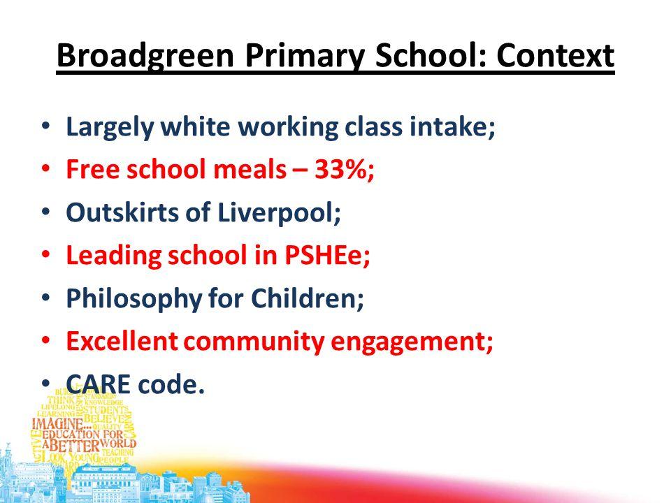 Broadgreen Primary School: Context