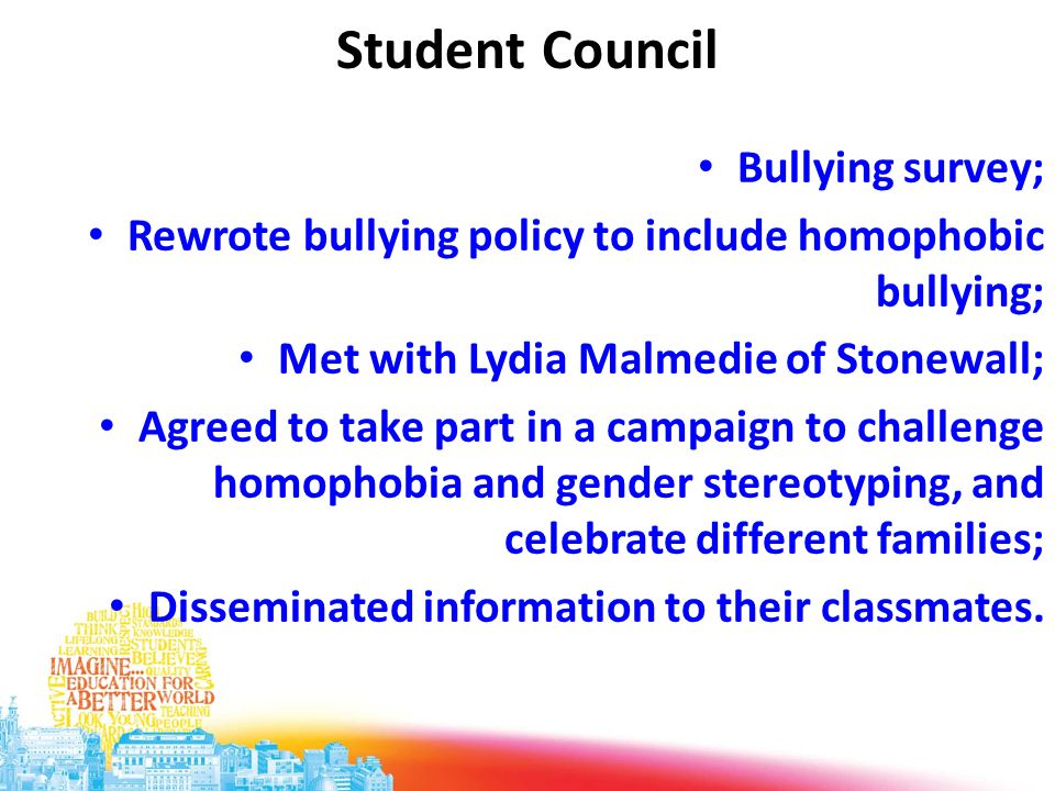 Student Council Bullying survey;