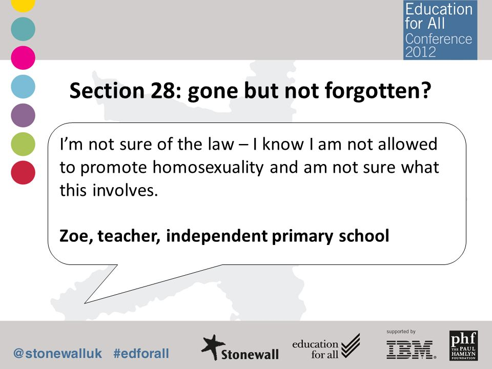 Section 28: gone but not forgotten