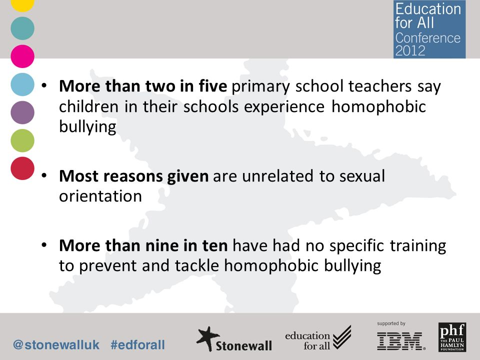 More than two in five primary school teachers say children in their schools experience homophobic bullying