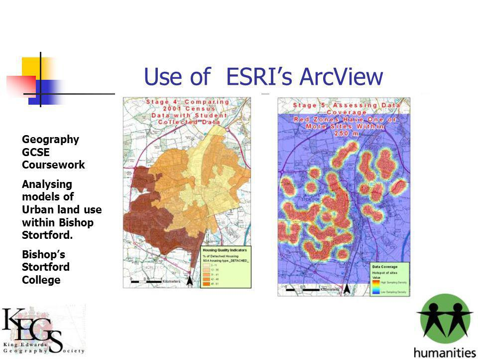 Use of ESRI's ArcView Geography GCSE Coursework