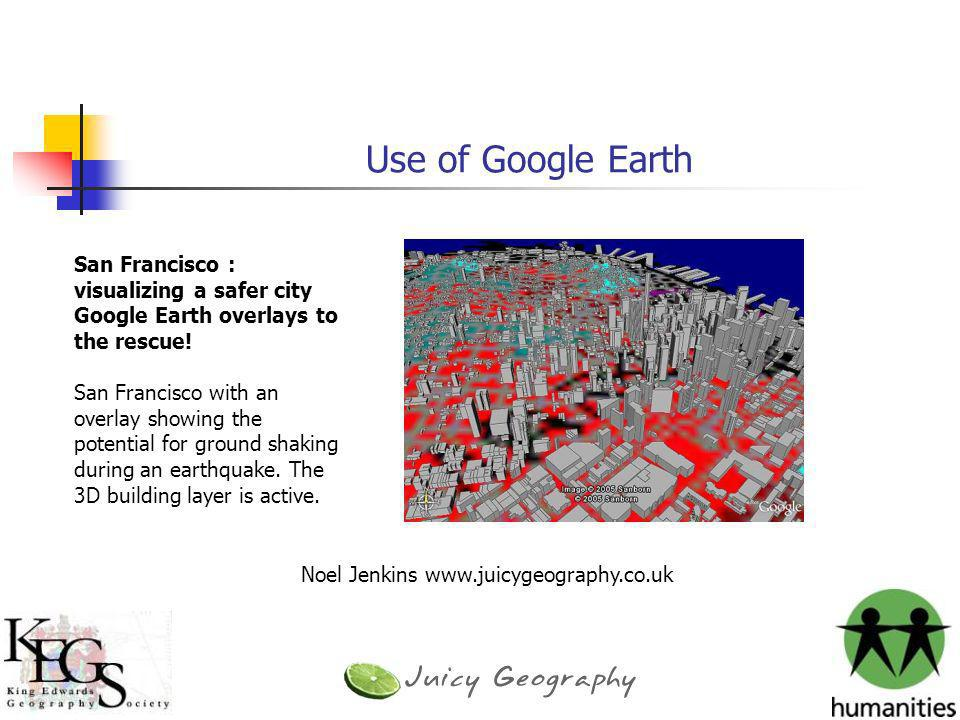 Use of Google Earth San Francisco : visualizing a safer city
