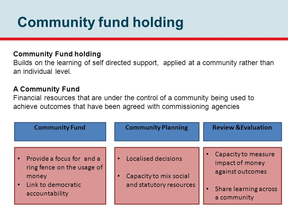 Community fund holding