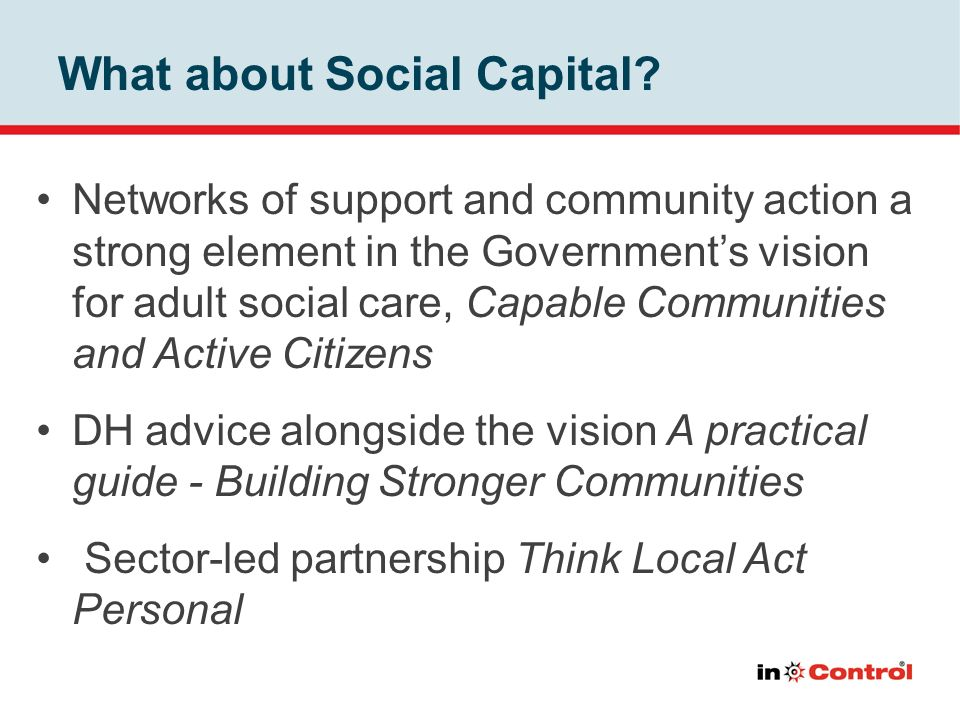 What about Social Capital