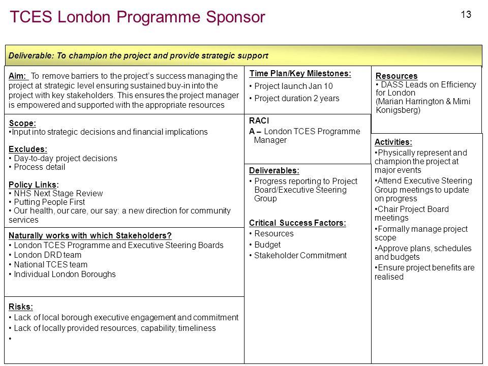 TCES London Programme Sponsor