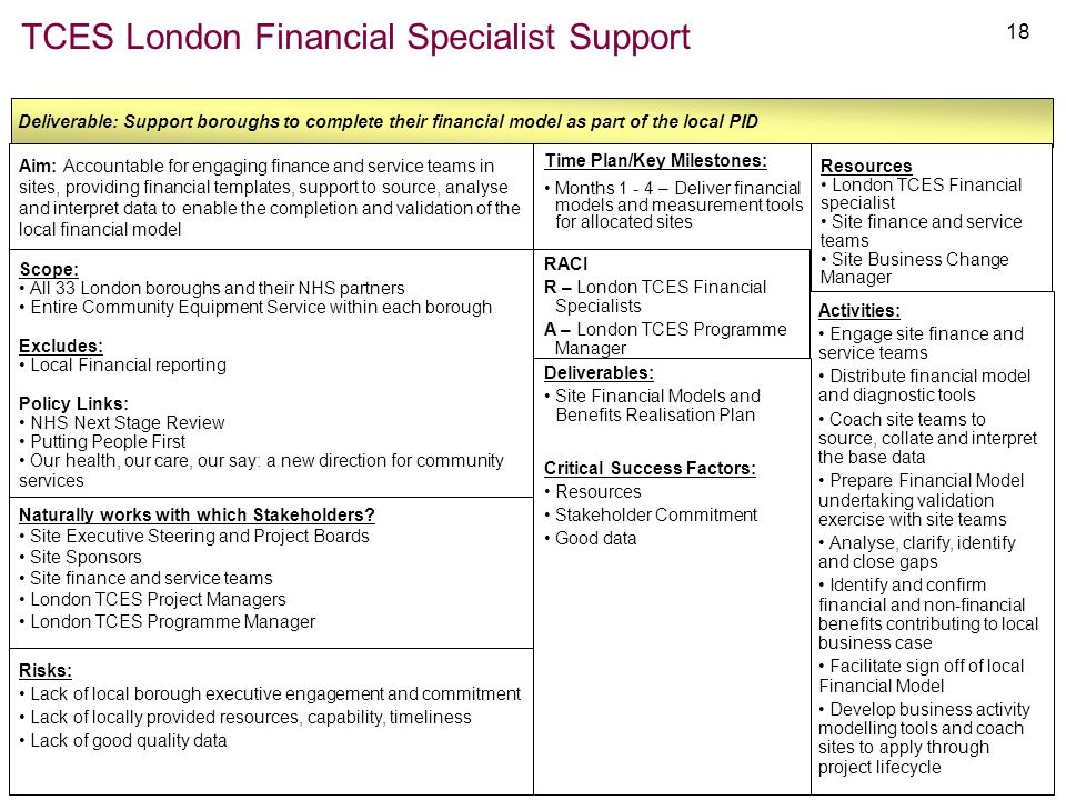 TCES London Financial Specialist Support