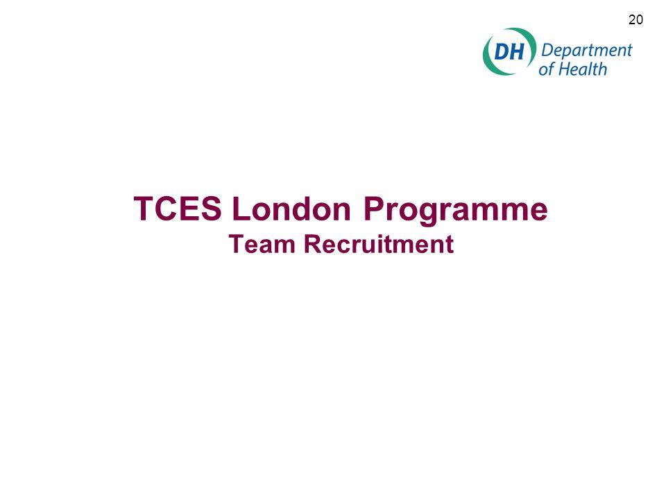 TCES London Programme Team Recruitment