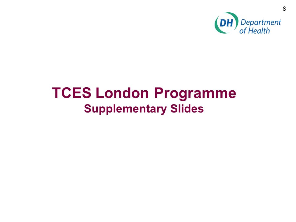 TCES London Programme Supplementary Slides