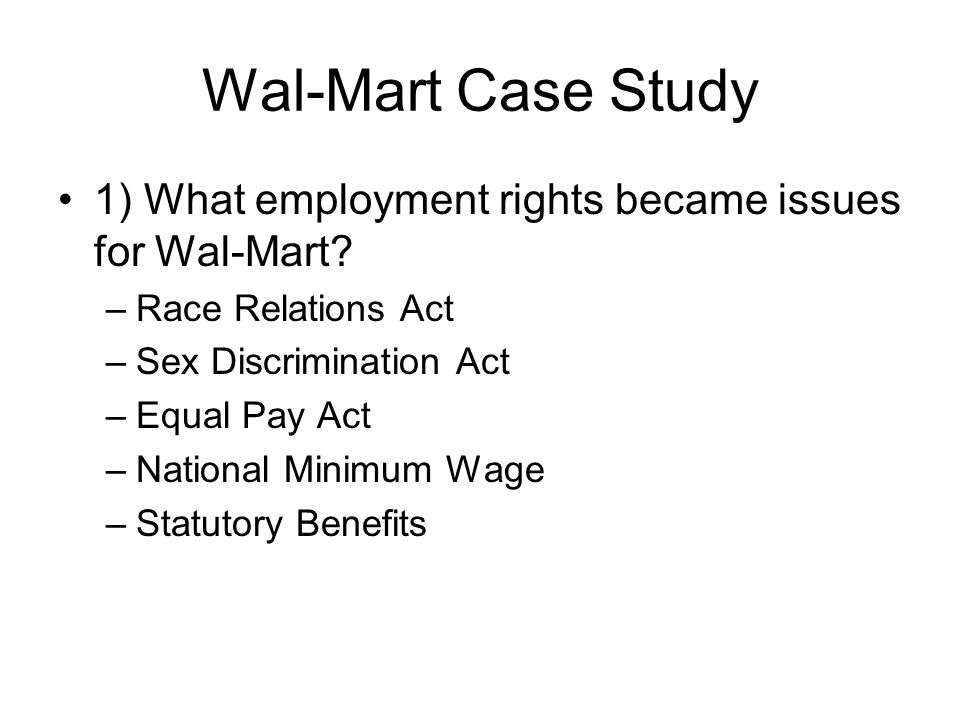 wal-mart case study summary I am conducting a case study on wal-mart and need assistance in the following pertaining to wal-mart's structure and performance 1 i need assistance in describing the facets of wal-mart's structure, and differentiate it.