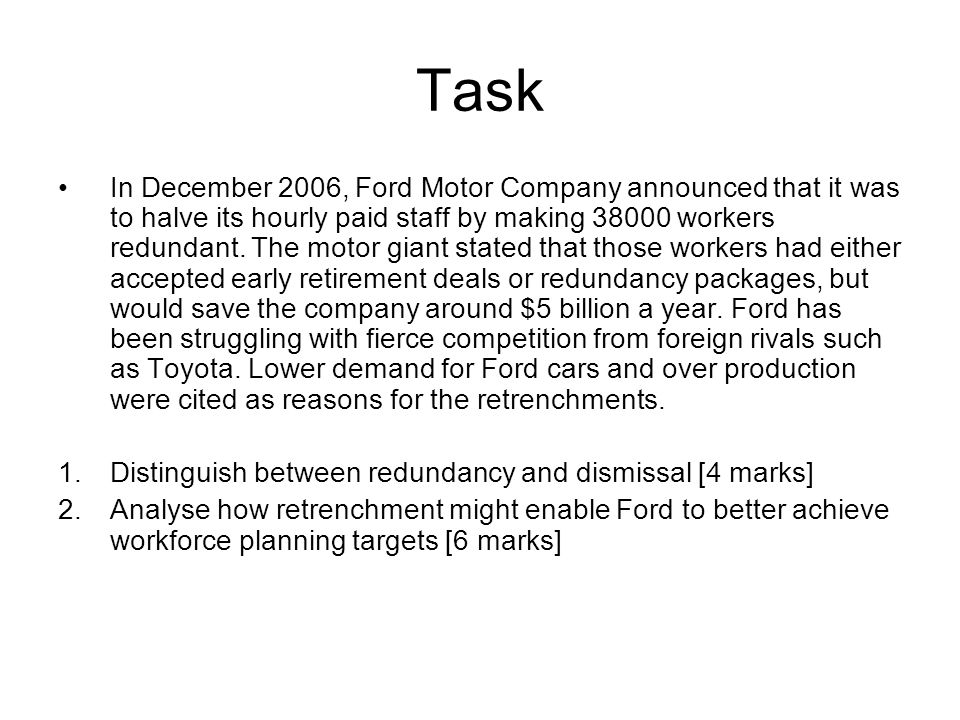 2 1 human resource planning ppt download for Ford motor company human resources
