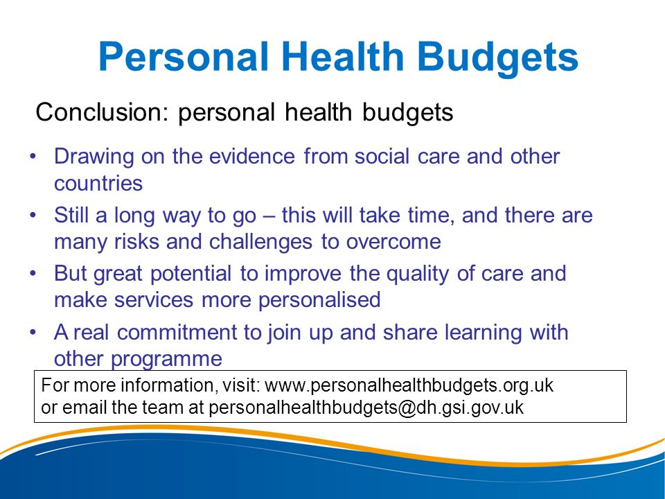 Personal Health Budgets