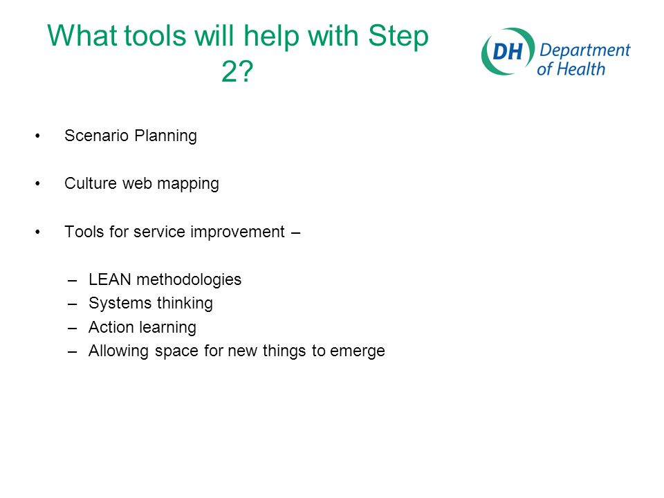 What tools will help with Step 2