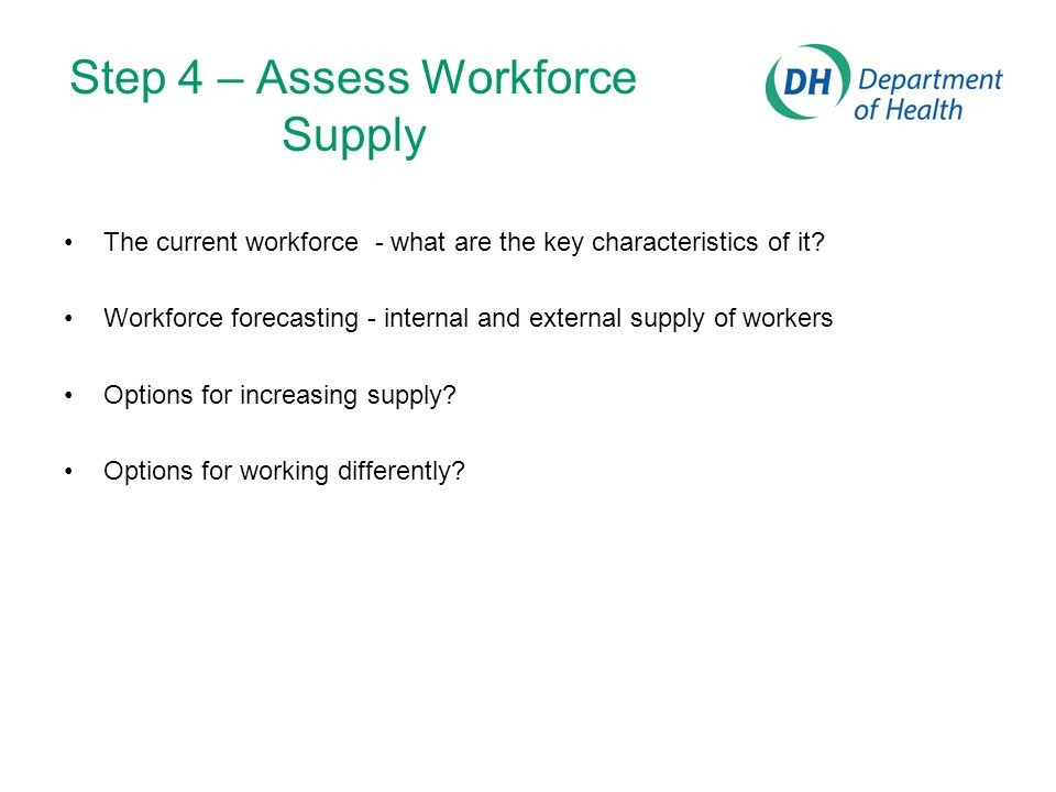 Step 4 – Assess Workforce Supply