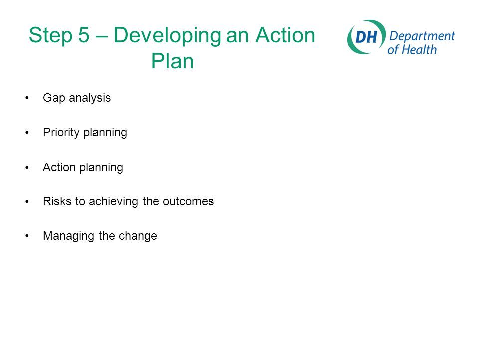 Step 5 – Developing an Action Plan