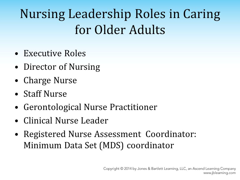 parkway leadership and nursing home directors Nrs 451v nursing leadership essays and research papers nrs-451v nursing leadership and management 6/30/2013 leadership and nursing home directors.