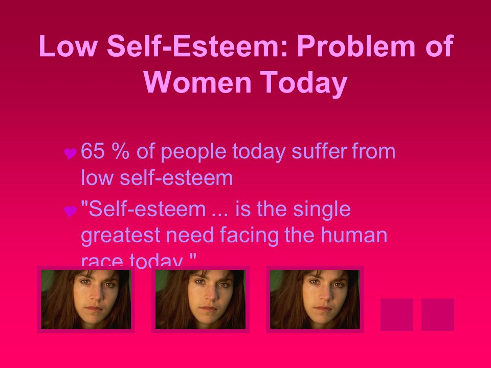 low self esteem relationship issues for women