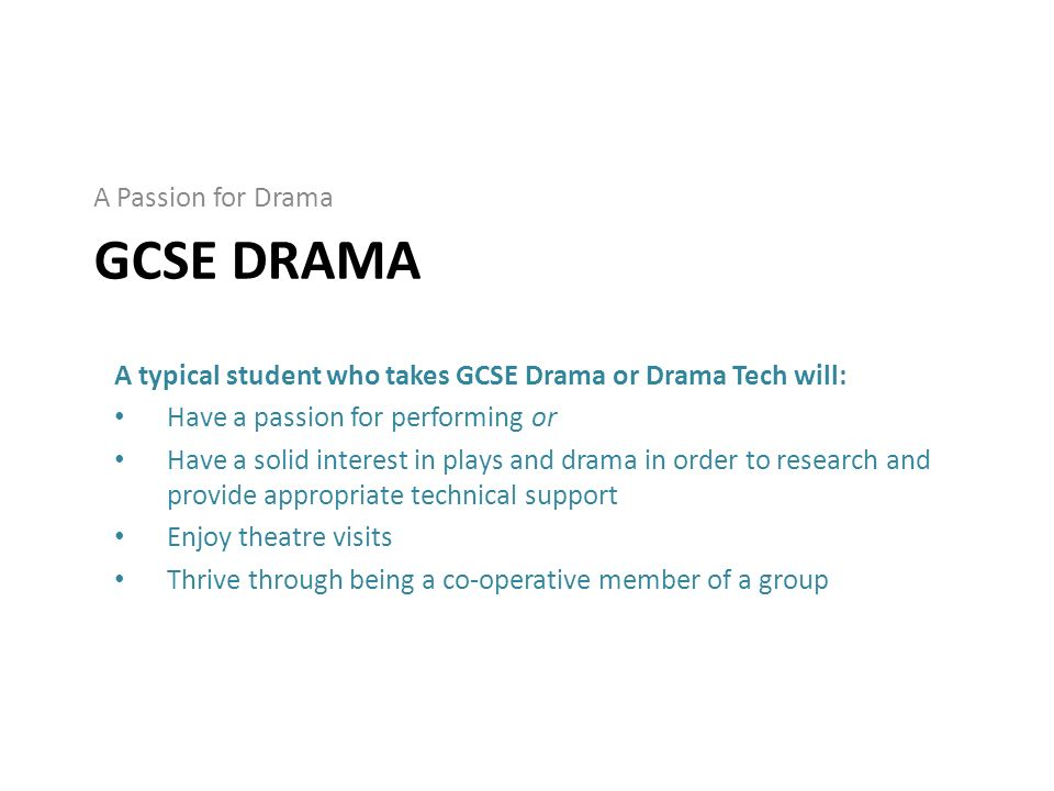 Help with drama coursework gcse