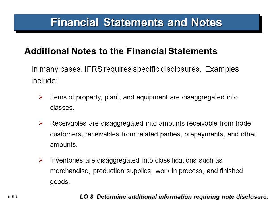 financial reporting notes How to write a financial report four parts: preparing to write preparing the balance sheet preparing the income statement preparing a statement of cash flows community q&a a financial report is an informational document about the financial health of a company or organization, which includes a balance sheet, an income statement and a statement of cash flows.