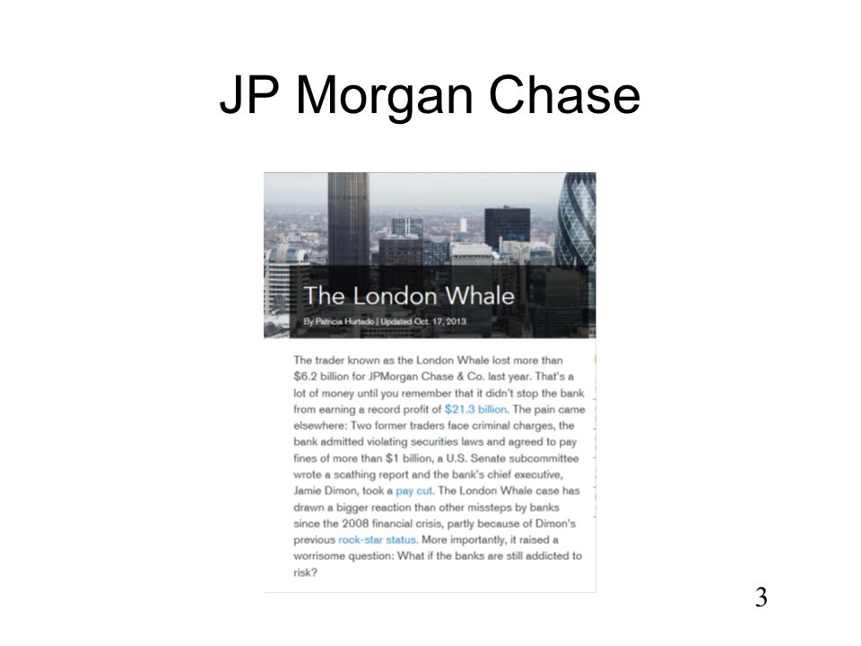 audit assessment jp morgan The internal audit department provides the board of directors, senior  management and regulators with an independent assessment of jpmorgan  chase's.