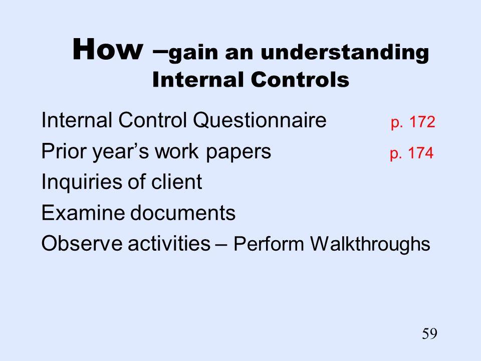 internal controls essay