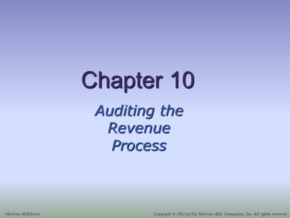 Auditing The Revenue Process