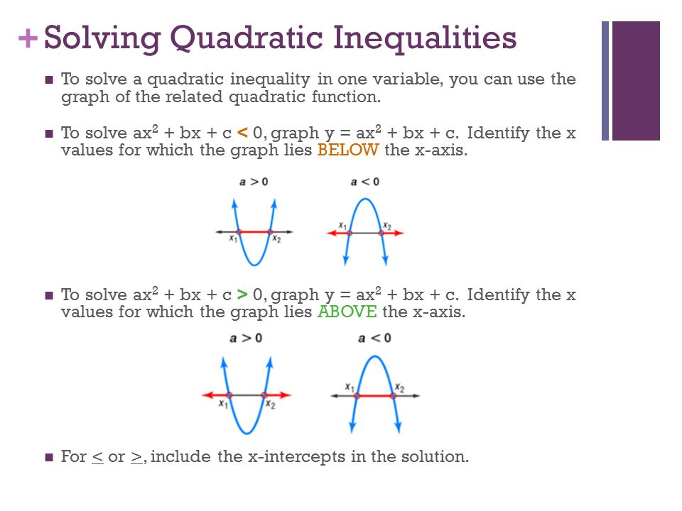 Solving Quadratic Inequalities Worksheet 013 - Solving Quadratic Inequalities Worksheet