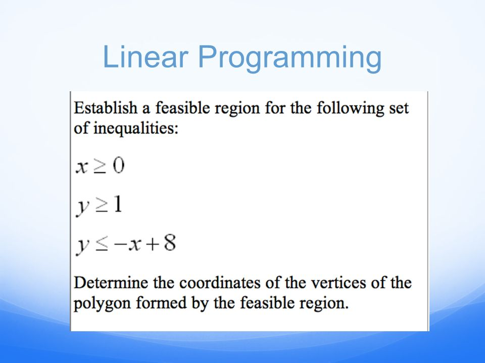 Write a system of inequalities that defines the shaded region