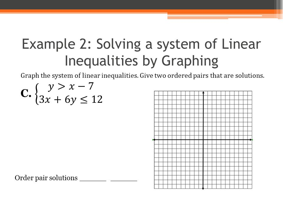 Graphing and solving systems of linear inequalities worksheets
