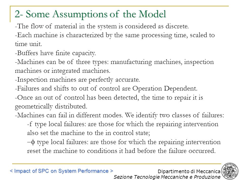 2- Some Assumptions of the Model