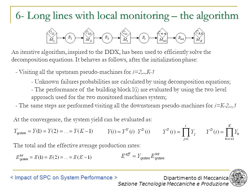 6- Long lines with local monitoring – the algorithm