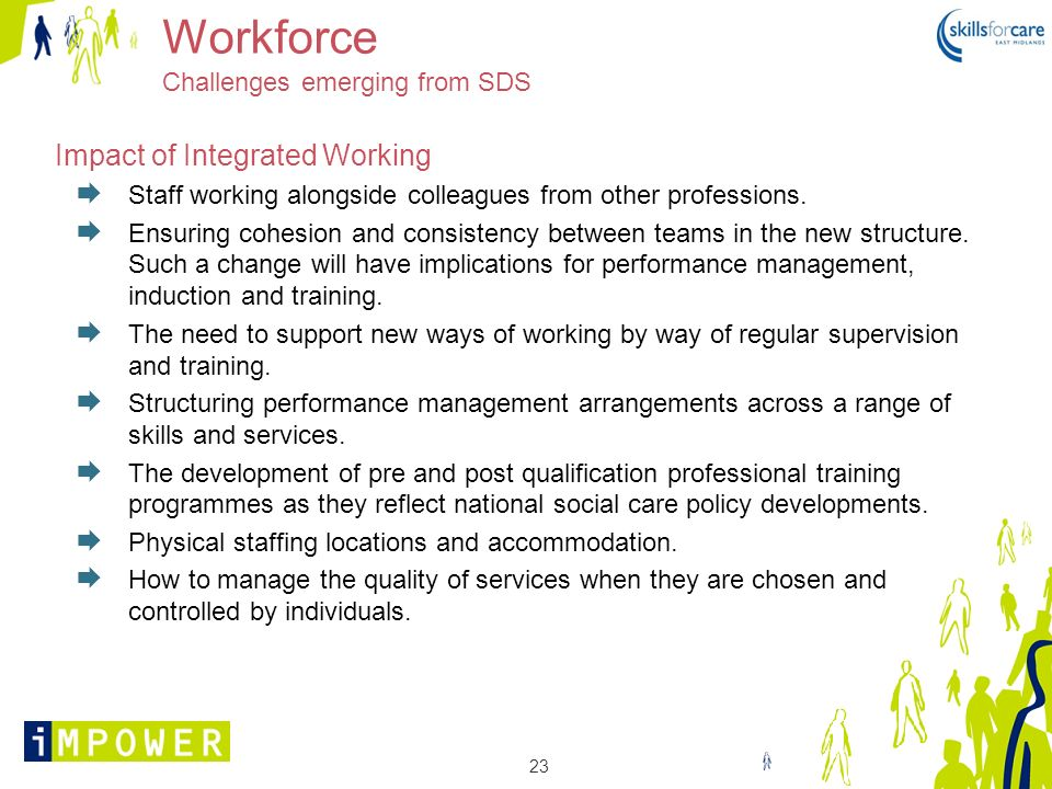 Workforce Challenges emerging from SDS