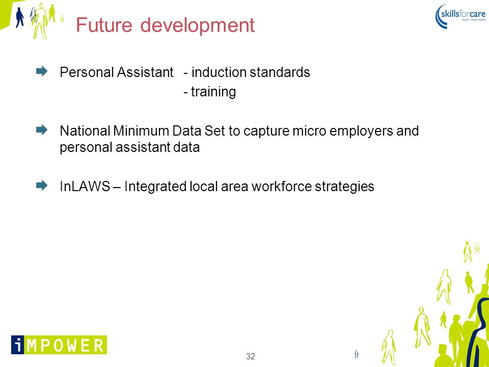 Future development Personal Assistant - induction standards - training