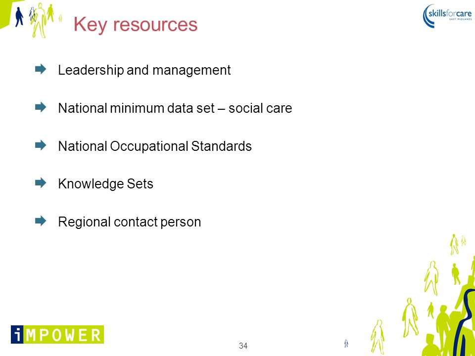 Key resources Leadership and management