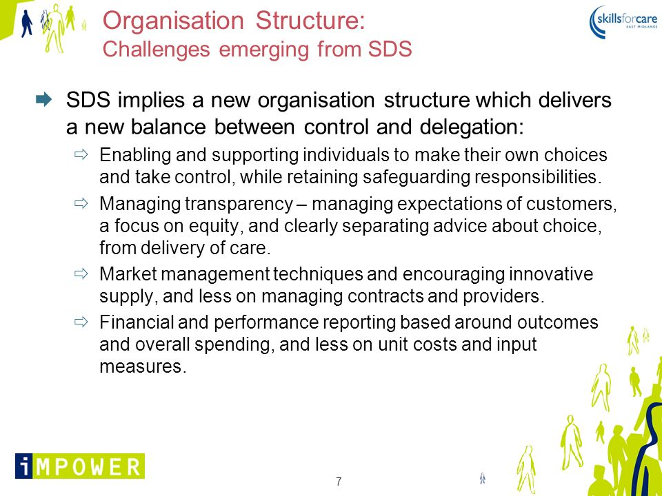 Organisation Structure: Challenges emerging from SDS