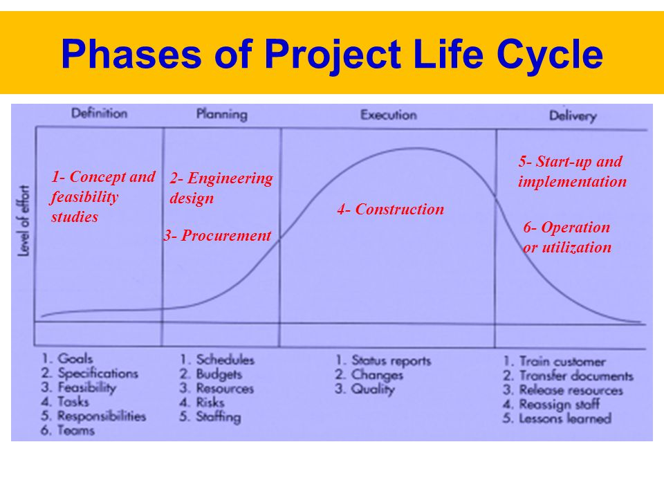 project life cycle essay Similar project management procedures can be used irrespective of the project being undertaken projects must have a definition and a plan they should also have procedures for management of risks, quality, status and scope.