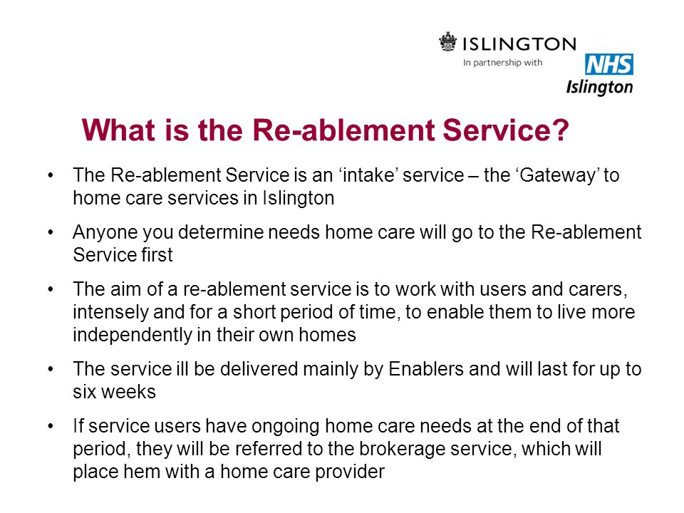 What is the Re-ablement Service