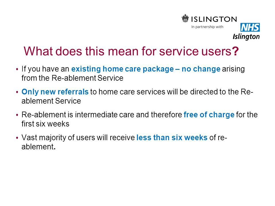 What does this mean for service users