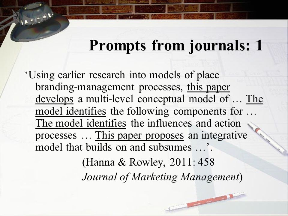 Prompts from journals: 1