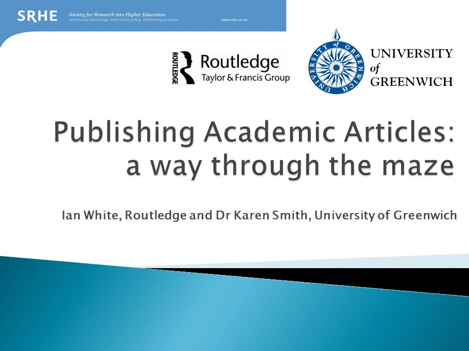 Publishing Academic Articles: a way through the maze